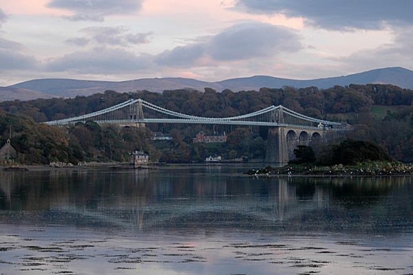 Menai Bridge On Reflection